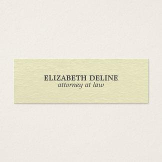 Advogado elegante simples mínimo da textura cartão de visitas mini