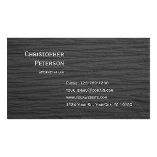Advogado elegante Textured minimalista no Cartão De Visita