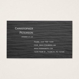 Advogado elegante Textured minimalista no Cartão De Visitas