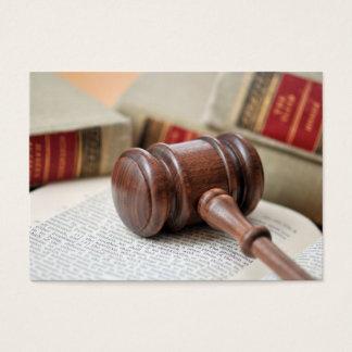 Advogado em cartões de visitas da lei