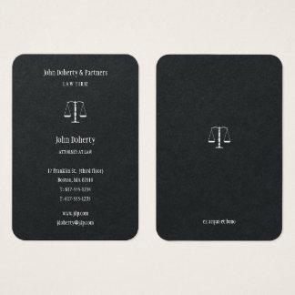 Advogado em elegante elegante da lei | cartão de visitas