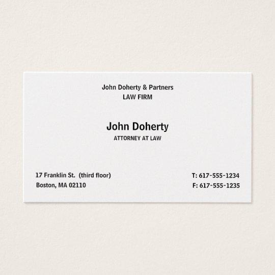 Advogado em elegante liso da lei | cartão de visitas