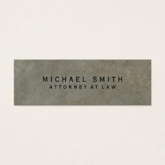 Advogado em minimalista simples do design da pedra cartão de visitas mini