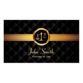 Advogado escuro luxuoso da listra do ouro do cartão de visita