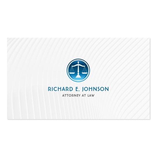 Advogado firme do advogado de escalas azuis de cartão de visita