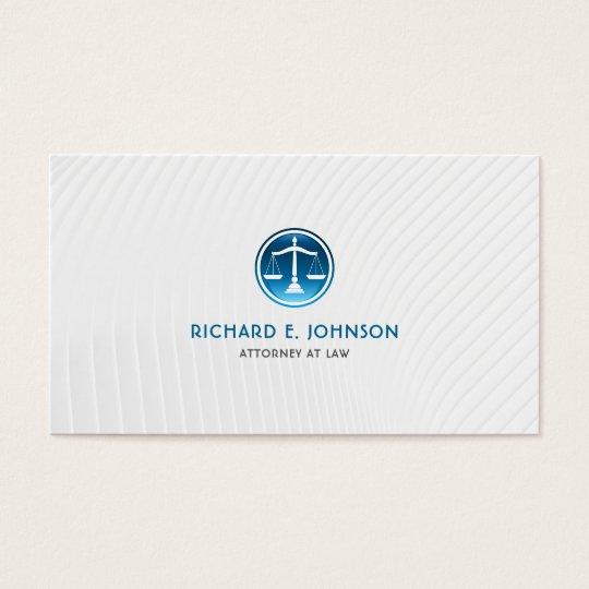 Advogado firme do advogado de escalas azuis de cartão de visitas