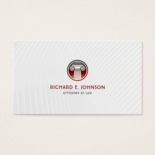 Advogado firme do advogado do ícone vermelho da cartão de visitas