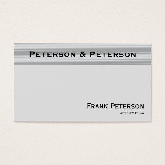 Advogado listrado elegante Textured minimalista Cartão De Visita