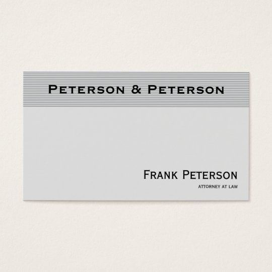 Advogado listrado elegante Textured minimalista Cartão De Visitas