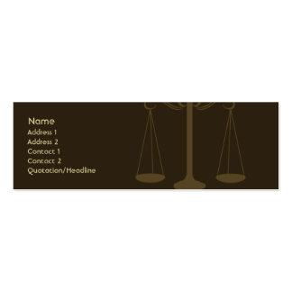 Advogado - magro cartão de visita skinny