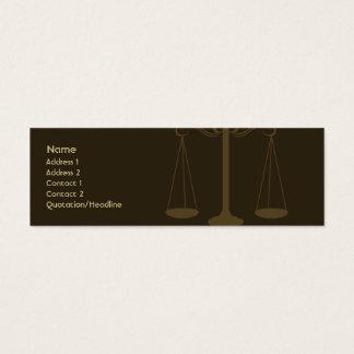 Advogado - magro cartão de visitas mini
