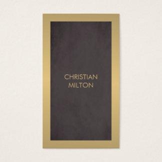 Advogado masculino do ouro cinzento escuro moderno cartão de visitas