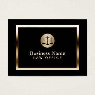 Advogado moderno do advogado da beira do ouro do cartão de visita grande