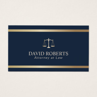 Advogado moderno do advogado dos azuis marinhos da cartão de visitas