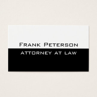Advogado moderno minimalista branco preto na lei cartão de visitas