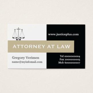 Advogado na escala da lei do taupe de justiça, cartão de visitas