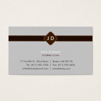 Advogado na lei - cartão de visita do monograma
