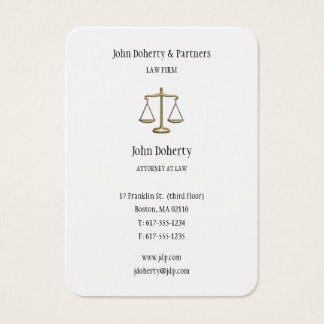 Advogado na lei - cartão de visita elegante do