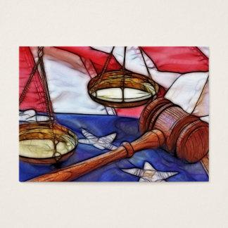 Advogado na lei cartão de visita grande