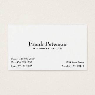 advogado na lei - cartão de visita liso elegante