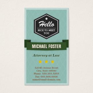 Advogado na lei - estilo do vintage olá! cartão de visitas