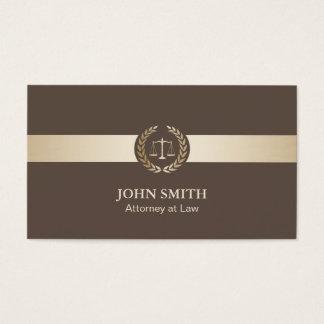 Advogado na lei planície elegante de Brown & de Cartão De Visitas