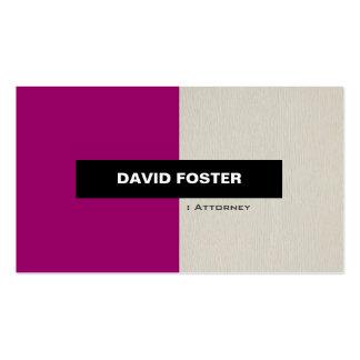 Advogado - na moda elegante simples cartão de visita