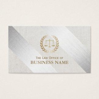 Advogado na prata da lei & no advogado modernos do cartão de visita