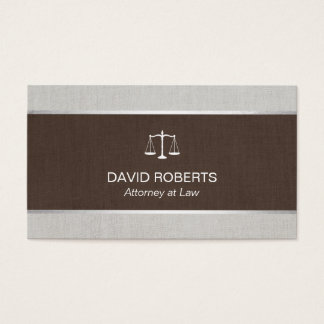 Advogado no advogado clássico de linho elegante da cartão de visitas