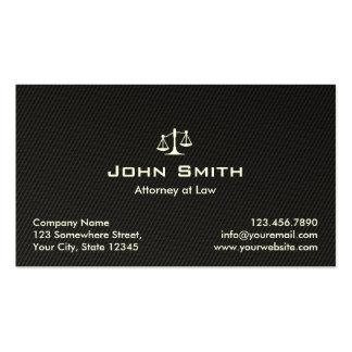 Advogado no advogado da fibra do carbono do preto cartão de visita