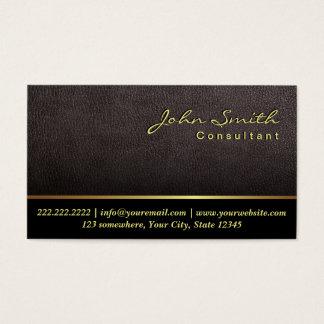 Advogado no advogado de couro elegante da lei cartão de visitas