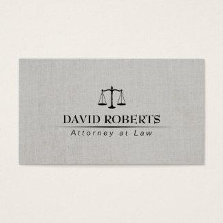 Advogado no advogado de linho elegante da lei cartão de visitas