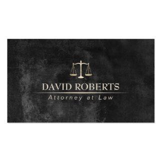 Advogado no advogado elegante do quadro da lei cartão de visita