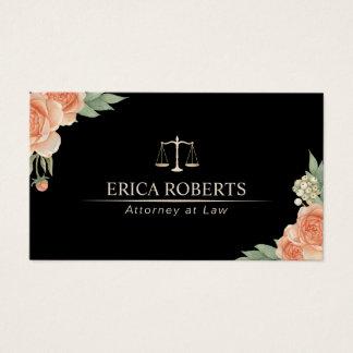 Advogado no advogado floral elegante da lei cartão de visitas