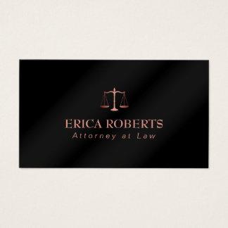 Advogado no advogado preto metálico do ouro cartão de visitas