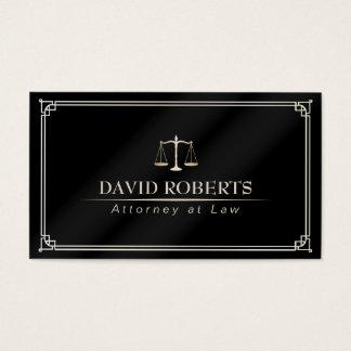Advogado no advogado quadro clássico da lei cartão de visitas
