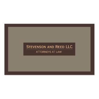 Advogado no cartão de visita tradicional da lei