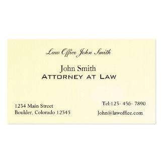 Advogado no escritório de advogados cartão de visita