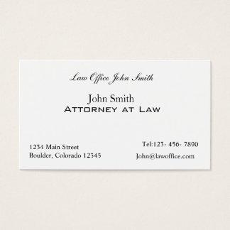 Advogado no escritório de advogados cartão de visitas