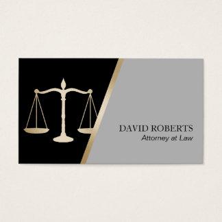 Advogado no preto clássico da lei & advogado do cartão de visitas