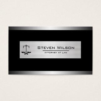 Advogado no preto da lei e na escala legal de cartão de visitas