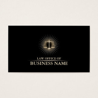 Advogado no preto elegante da lei & advogado do cartão de visitas