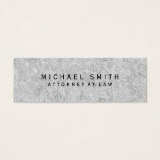 Advogado original no design cinzento da parede da cartão de visitas mini