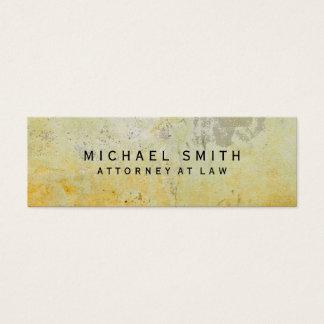 Advogado original no design da parede do almofariz cartão de visitas mini