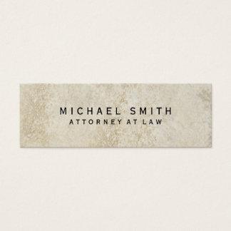 Advogado original no design da pedra da parede da cartão de visitas mini