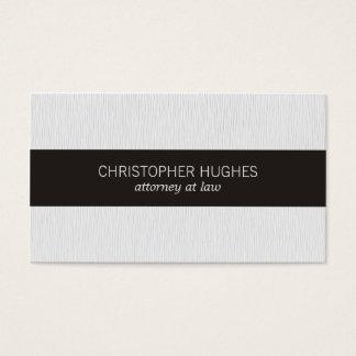Advogado preto branco da listra da textura cartão de visitas