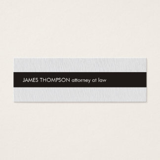 Advogado preto branco da listra da textura cartão de visitas mini