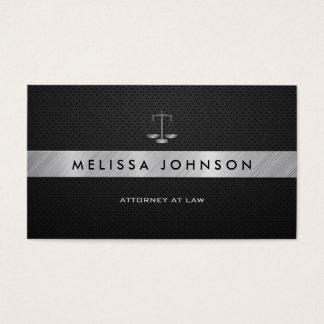 Advogado preto & de prata profissional & moderno cartão de visitas