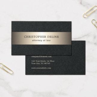 Advogado preto elegante simples da listra do ouro cartão de visitas