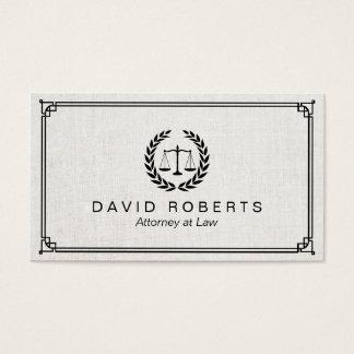 Advogado profissional em simples da lei quadro cartão de visitas